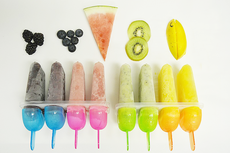 A fresh fruit popsicle recipe for popsicles with fresh fruit only, no added sugars or sweeteners. Perfect healthy snack on a hot summer day.