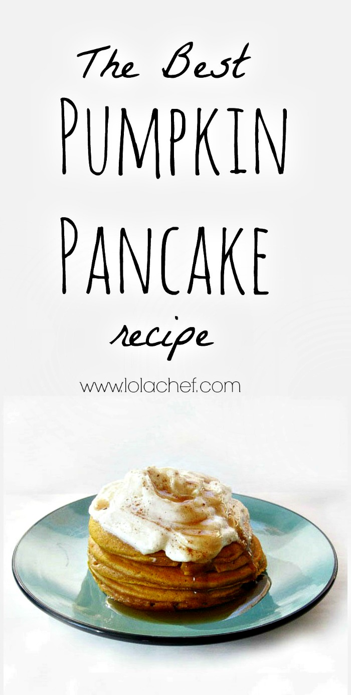 A fluffy and light pancake recipe with pumpkin for added flavor.