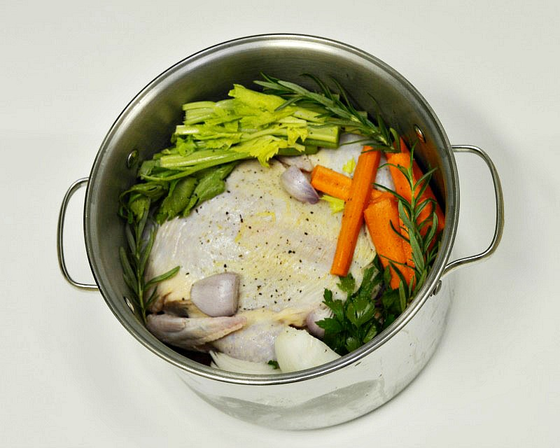 An easy chicken soup recipe with a versatile broth perfect for cool weather days.