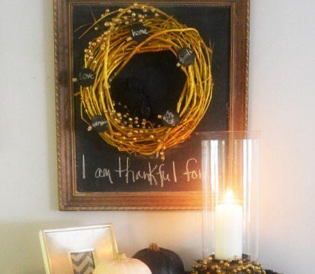 DIY Thankful Wreath