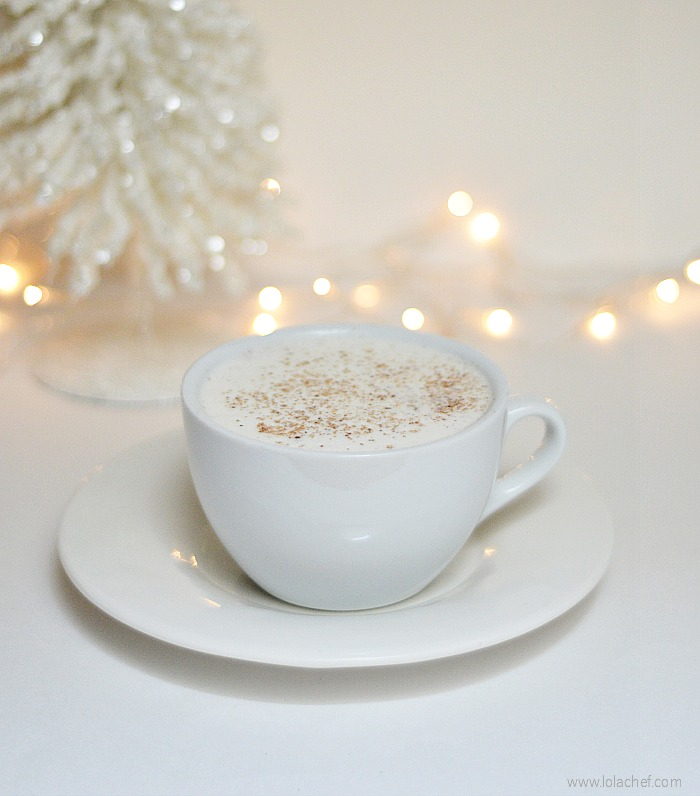 Delicious variation of an egg nog recipe using egg whites and light cream.