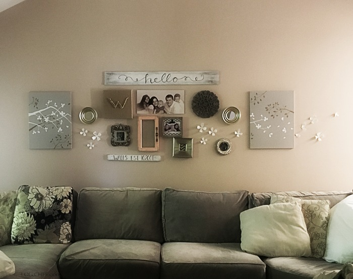 Tips on how to create and easy and simple gallery wall.