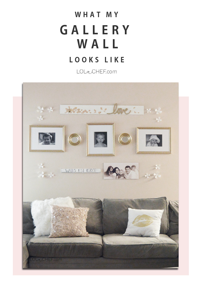 A simple and easy way to use a gallery wall to create a DIY family photo display.