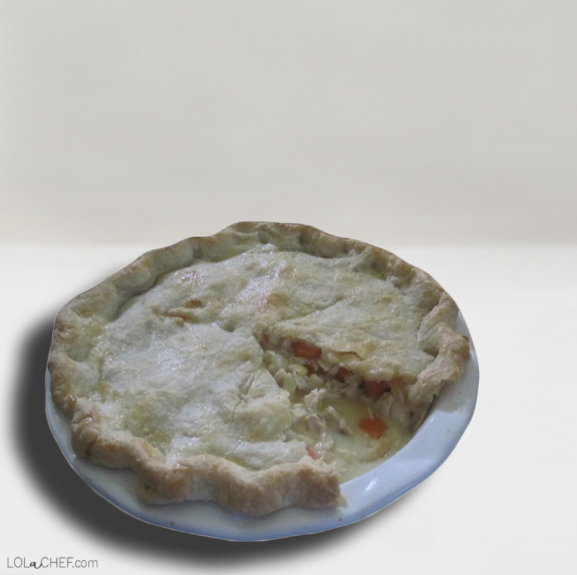 Recipe for homemade chicken pot pie.
